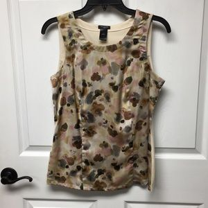 Ann Taylor small tank silky front cotton back
